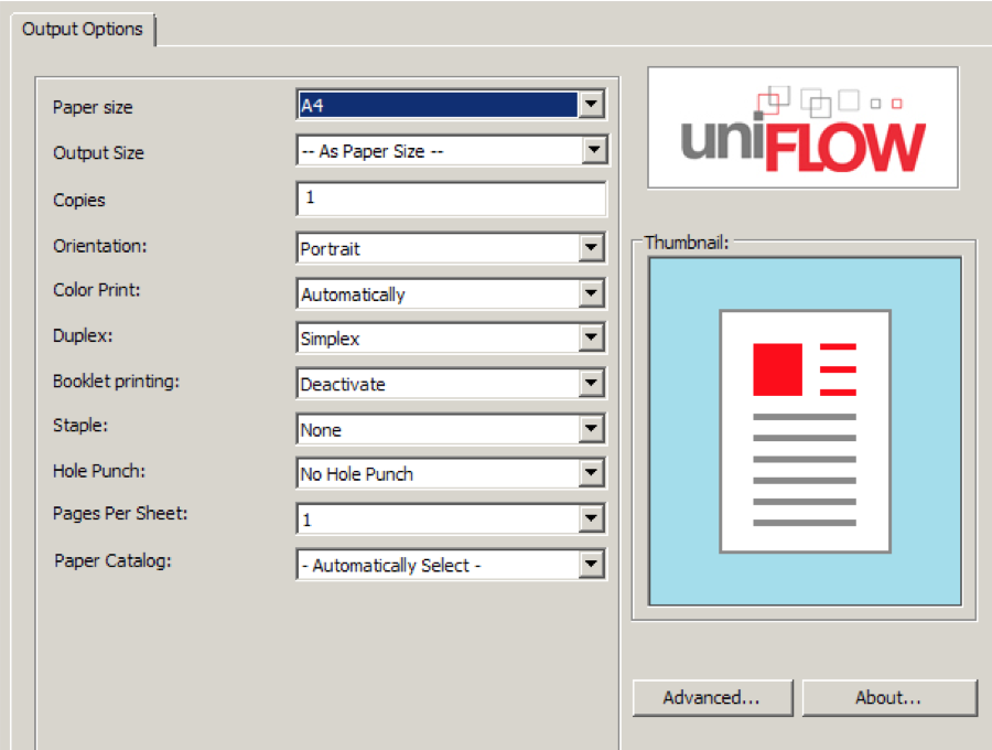 CANON UNIFLOW UNIVERSAL PCLXL DRIVERS PC