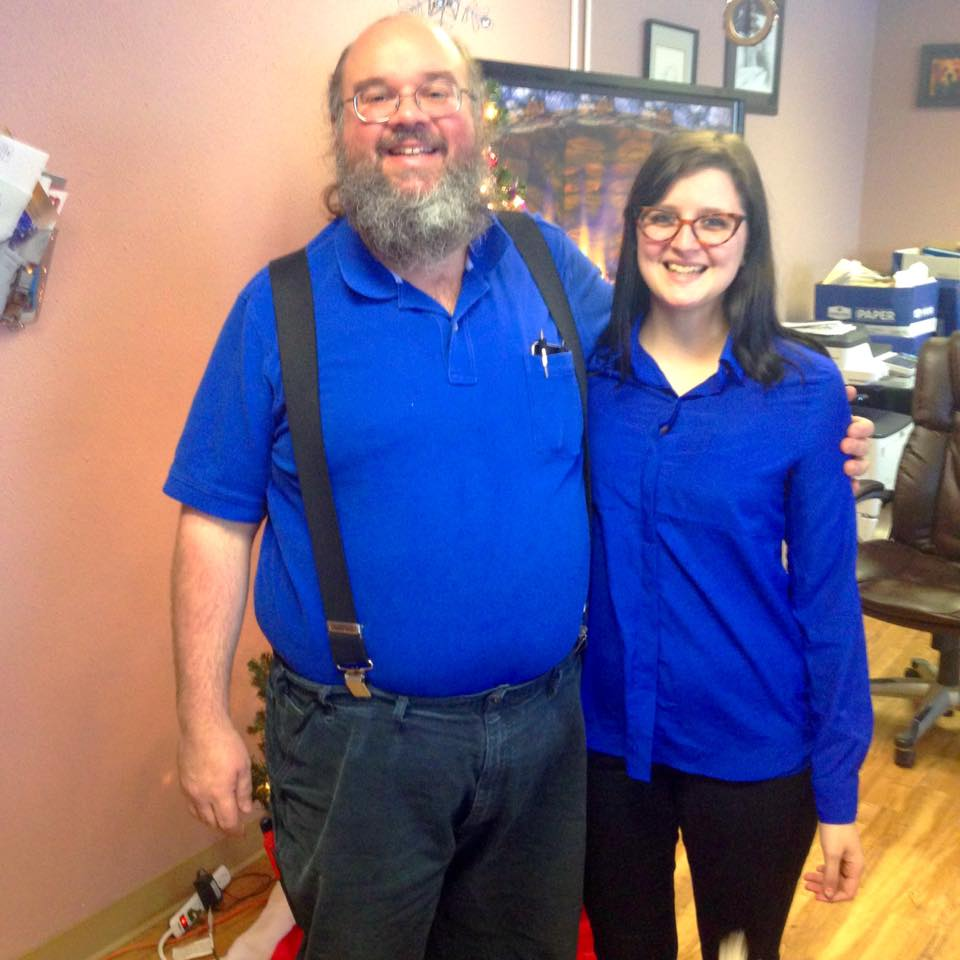 """Rob Spicer and his """"bonus-daughter"""" Dani Flint from Northern Business Systems in Fairbanks, Alaska"""