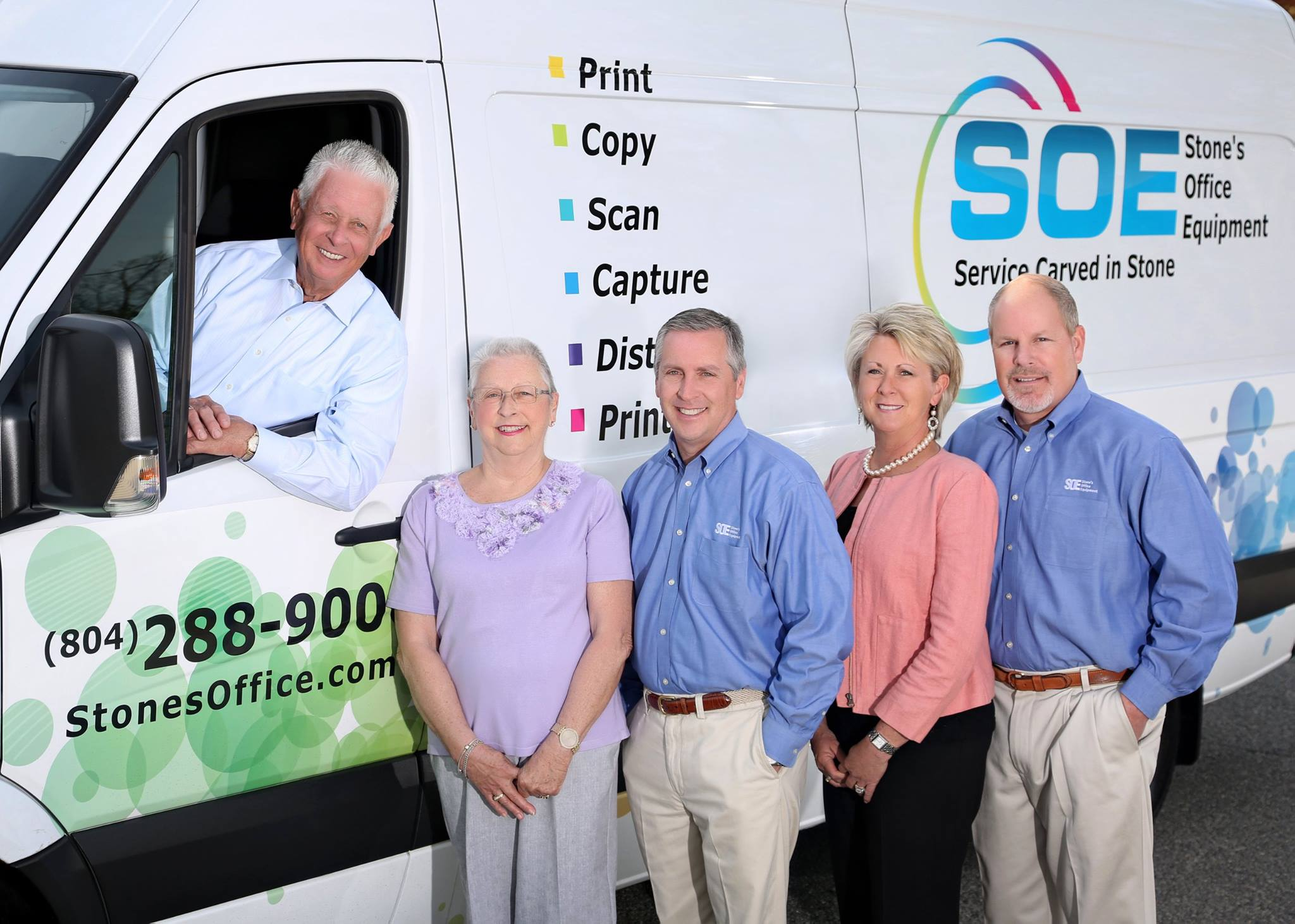 SOE (Stones Office Equipment) of Virginia - Frank Stone, Sally, Mike, Tina and Sam