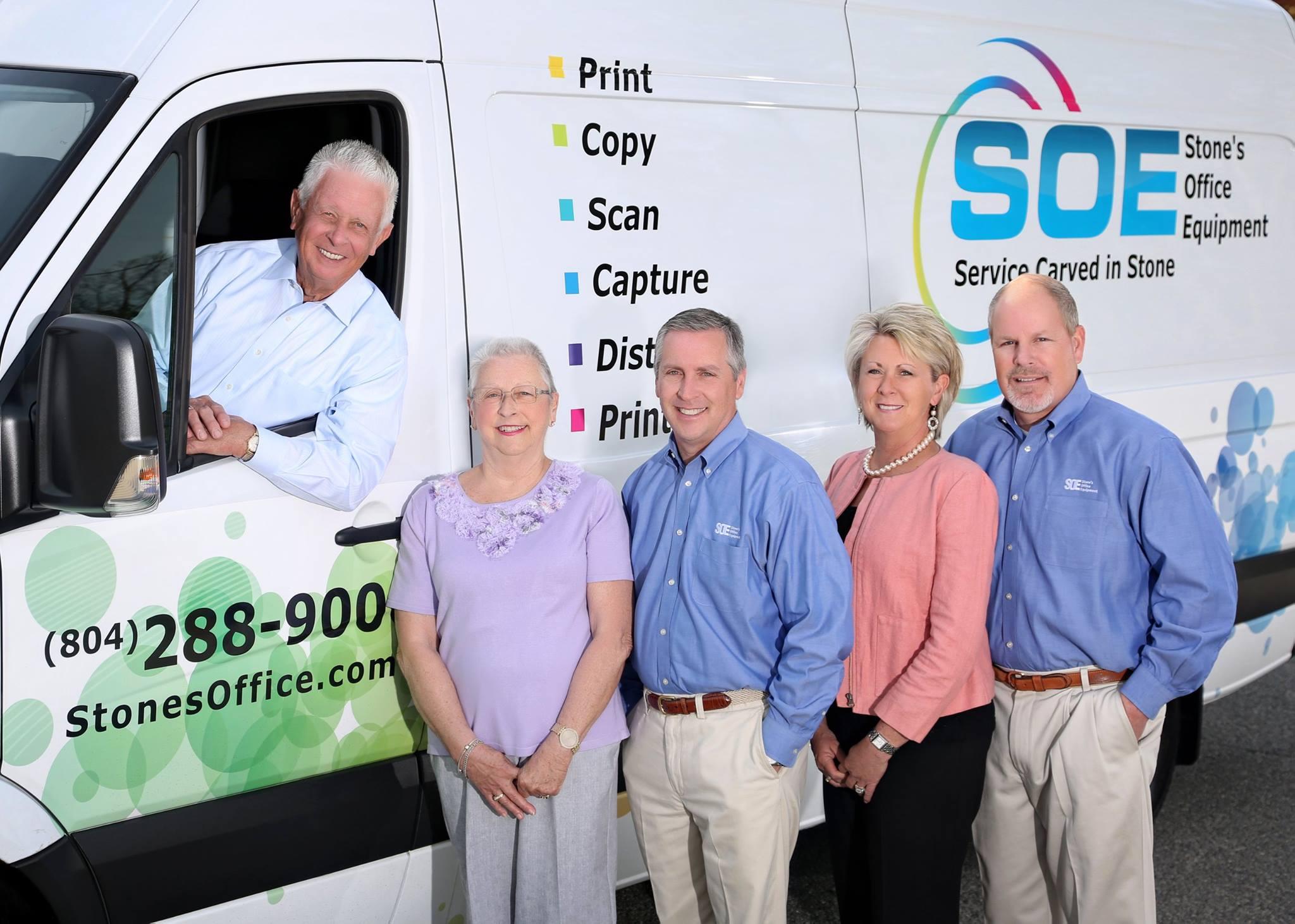 SOE (Stones Office Equipment) of Virginia - Frank Stone, Sally, Mike, Tina and Sam