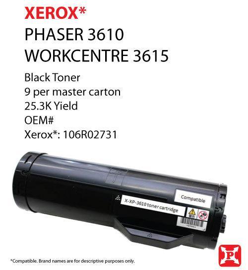 xerox Phaser 3610, WorkCentre 3615 toner