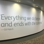 Everything we do begins and ends with the customer, gil hatch