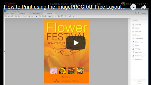 How to Print using the imagePROGRAF Free Layout Tool
