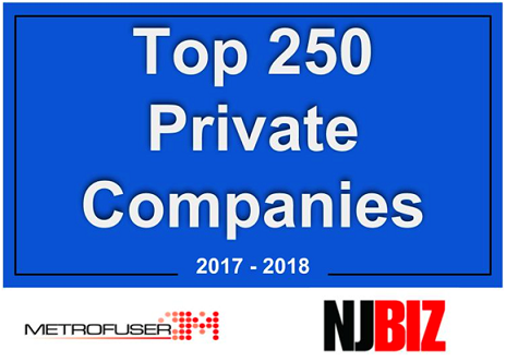 Image result for Metrofuser Named to Top 250 Privately Held Companies In New Jersey.