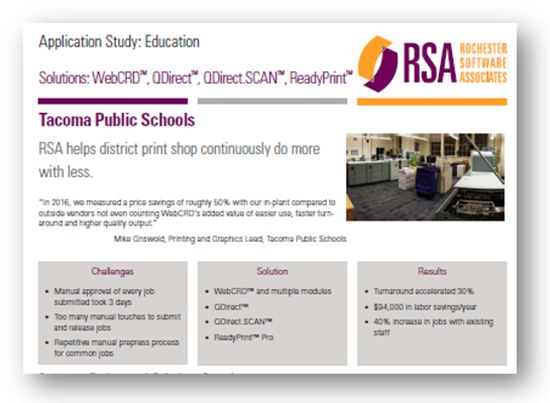 School District Saves $94K/yr with RSA Workflow Software