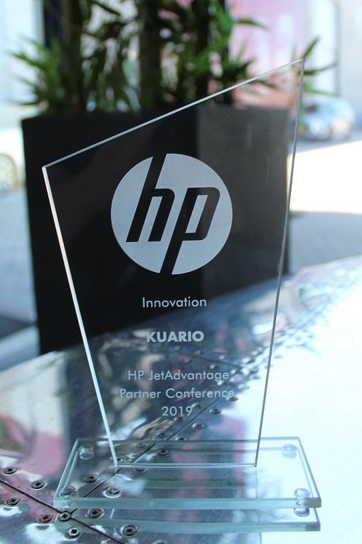 KUARIO Wins The HP JetAdvantage Partner Innovation Award